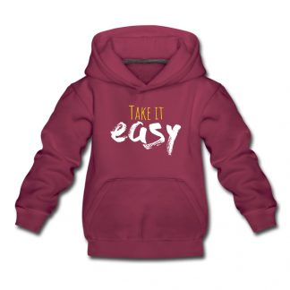 Take it easy roter Hoodie